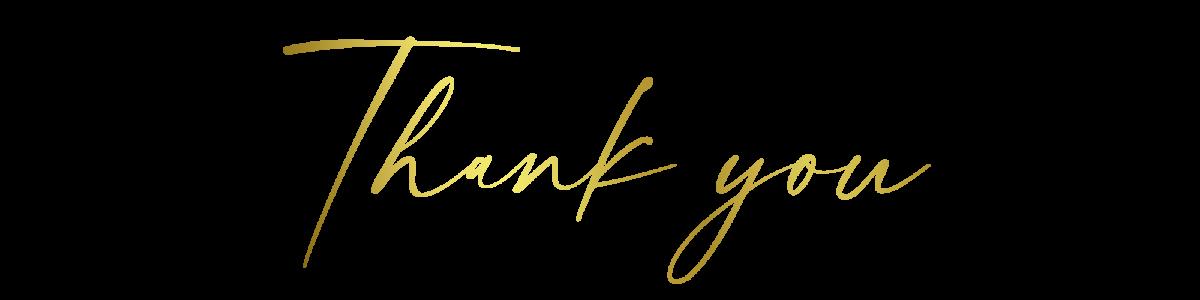 Zierschrift Thank you