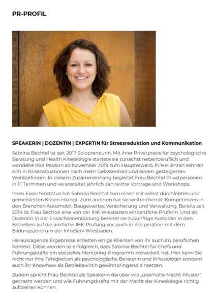 Sabrina Bechtel PR-Profil Vorschau