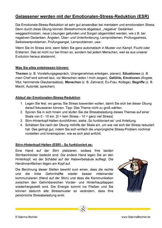 Emotionale Stress-Reduktion (ESR)